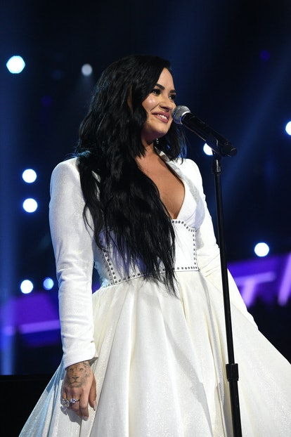 Demi Lovato's black hair is one 2021 color trend to watch.