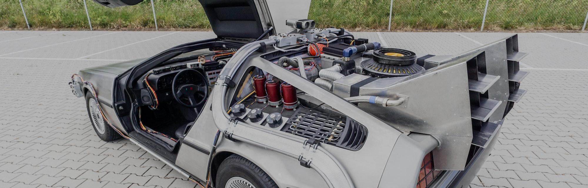A DeLorean car