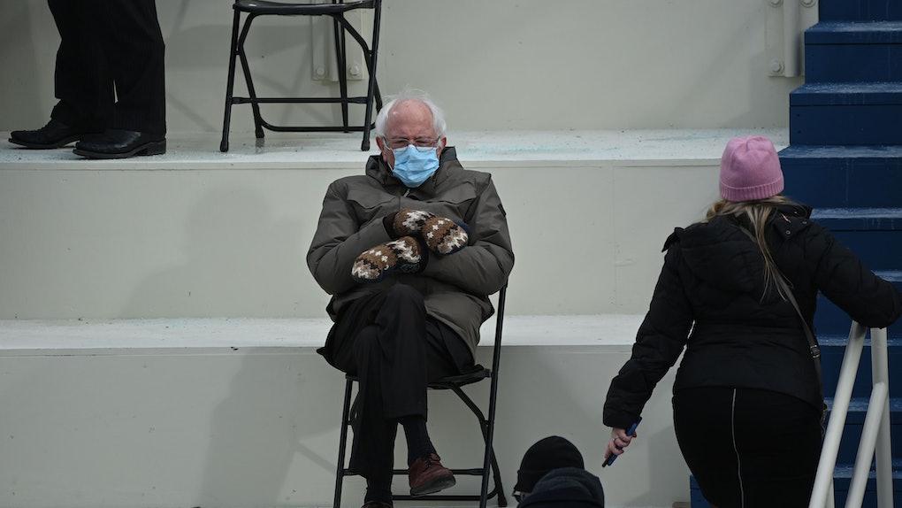 Bernie Sanders at Joe Biden's inauguration.