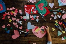 Valentine's Day crafting and activities