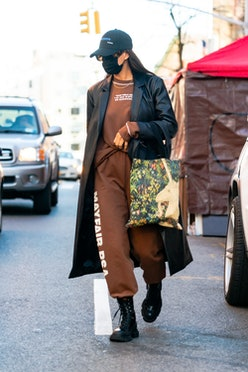 Irina Shayk is seen in SoHo on January 23, 2021 in New York City.