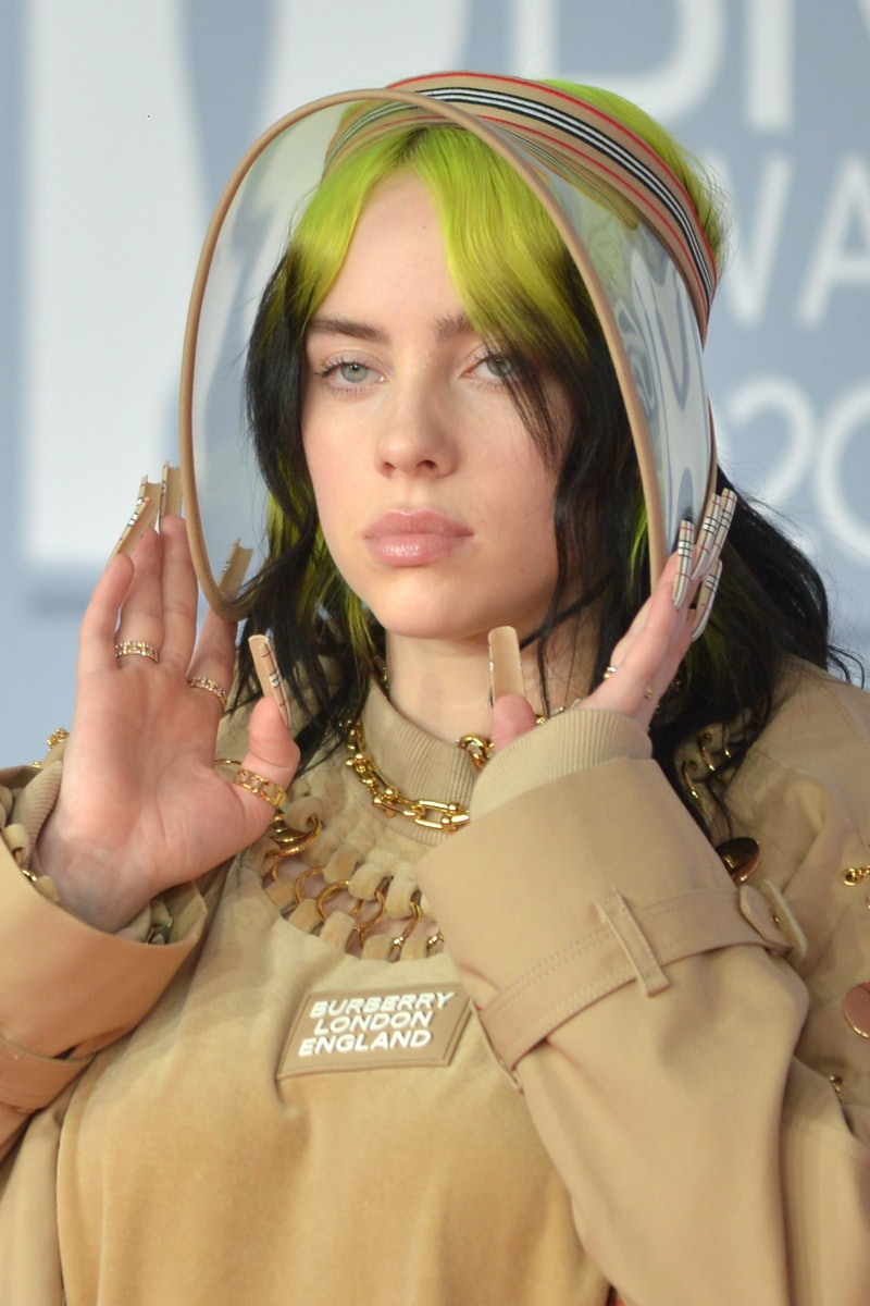 Billie Eilish detailed how the viral tank top photo impacted her body image. Photo via Getty Images