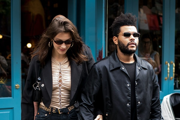 Bella Hadid and The Weeknd step out arm in arm.