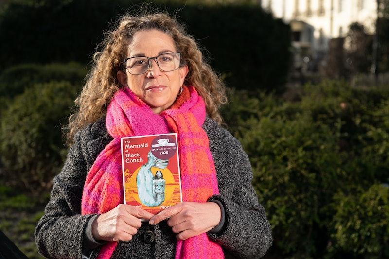 Monique Roffey holds her award-winning novel 'The Mermaid of Black Conch'