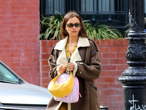 Irina Shayk out for a walk on January 22, 2021 in New York City.
