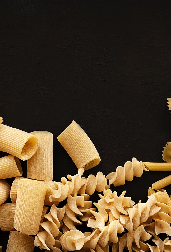 Dry pasta can be a great craft supply.