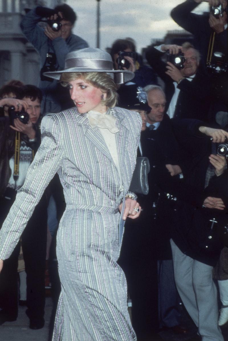Princess Diana evading the paparazzi