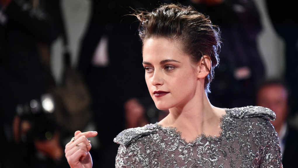Kristen Stewart, who will play  Princess Diana in a new movie called 'Spencer,' on a red carpet