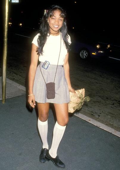 Tatyana Ali at Jonathan Brandis' 18th Birthday Party in 1994