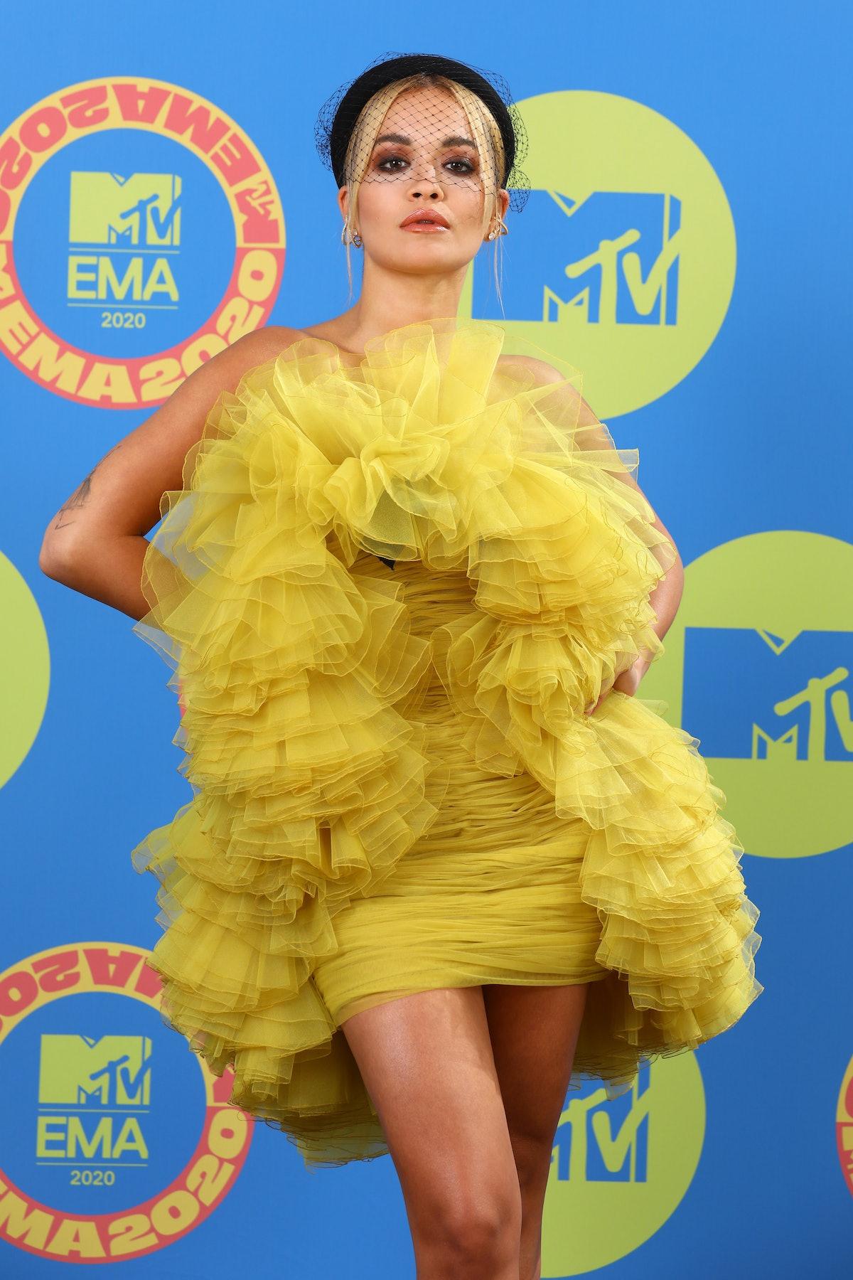Rita Ora arrives to the MTV EMAs.