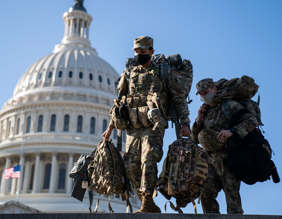 Members of the National Guard were deployed to Washington, D.C. after Jan. 6.