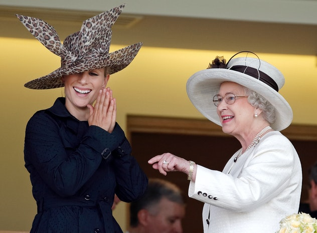 Queen Elizabeth with Zara Tindall, 2007.