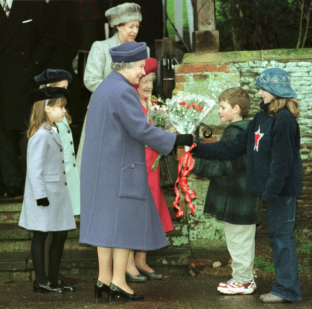 Queen Elizabeth at Christmas services with Princess Eugenie and Princess Beatrice.