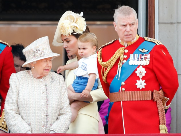 Queen Elizabeth with great-grandson Prince Louis, 2019.