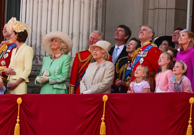 Queen Elizabeth at Trooping The Colour in 2015.