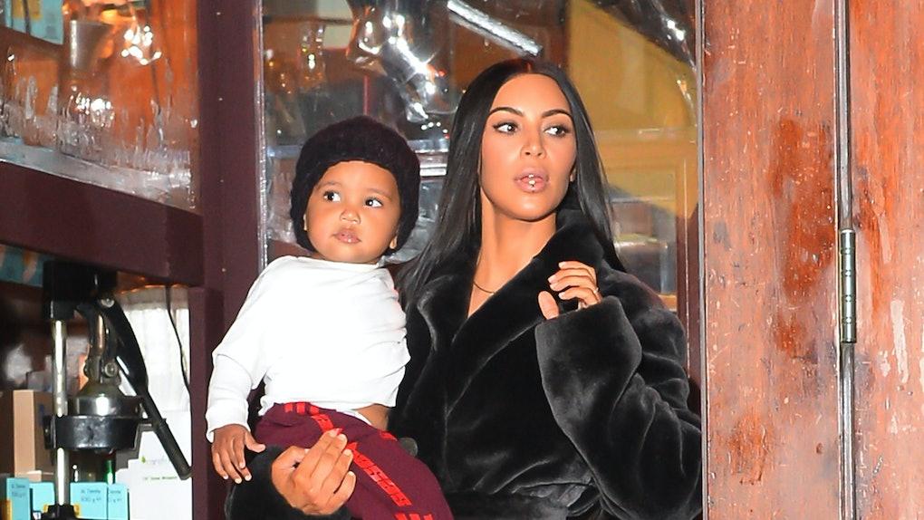Kim Kardashian's photos of Saint cutting his own hair are so cute.