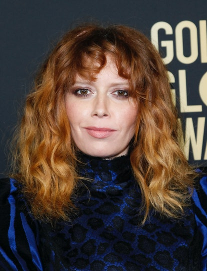 Natasha Lyonne's curly bangs are a spring 2021 hair trend.