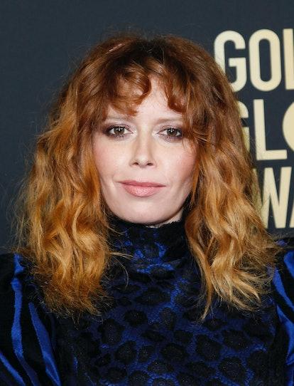 Natasha Lyonne's curly bangs are a spring 2021 hair trend.