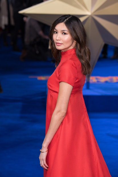 Single length hair like Gemma Chan's is a 2021 spring hair trend.
