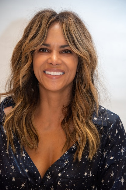 Halle Berry's shaggy layers are a 2021 spring hair trend.