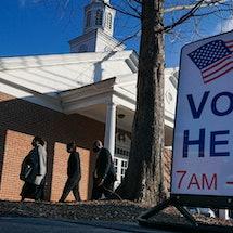 A Georgia voting location