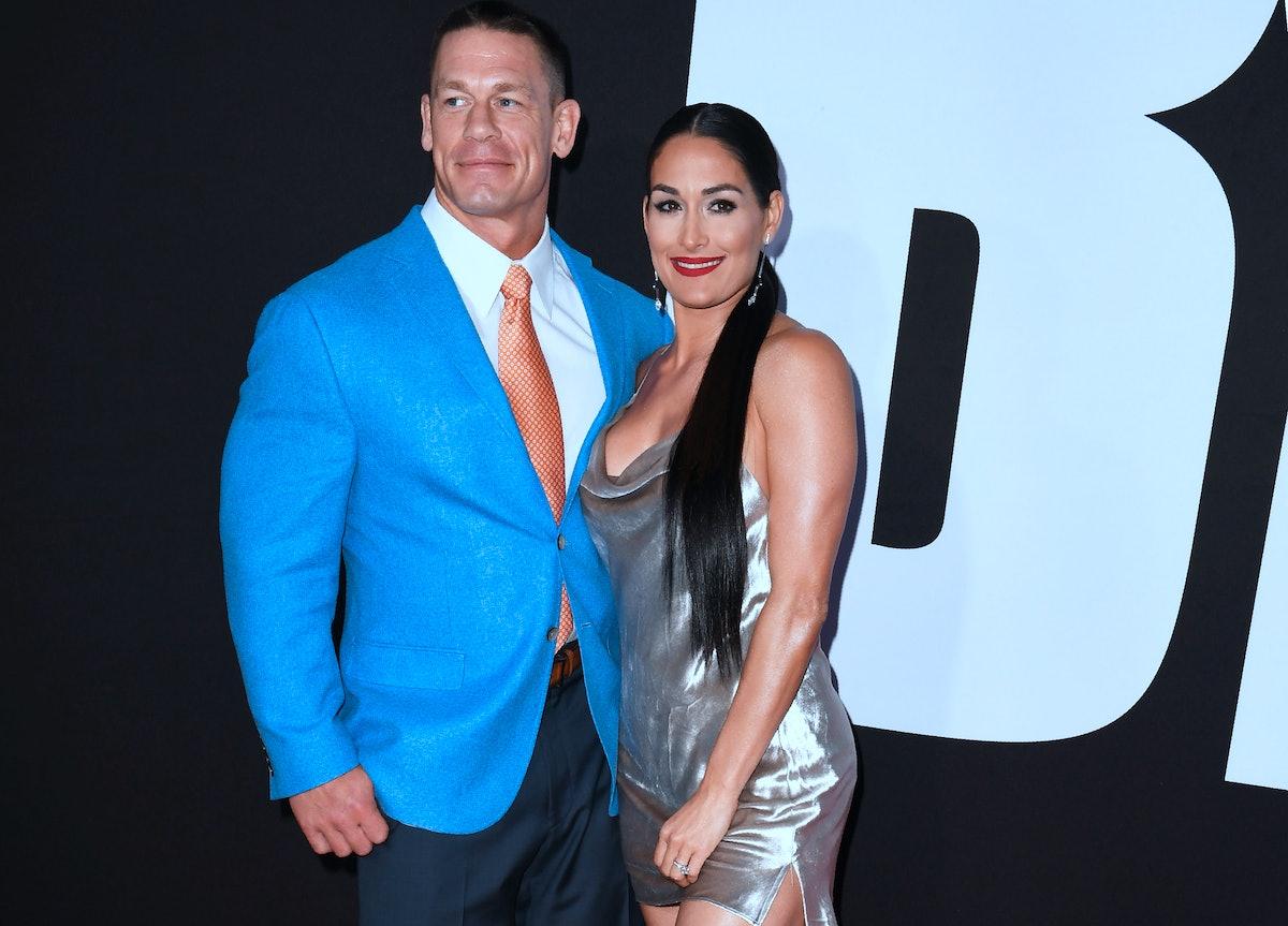 John Cena and Nikki Bella hit the red carpet.