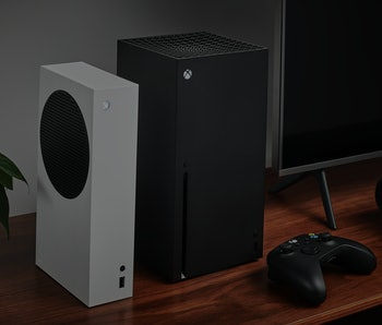 Microsoft's Xbox Series S/X consoles, which have faced continued shortages months after release.