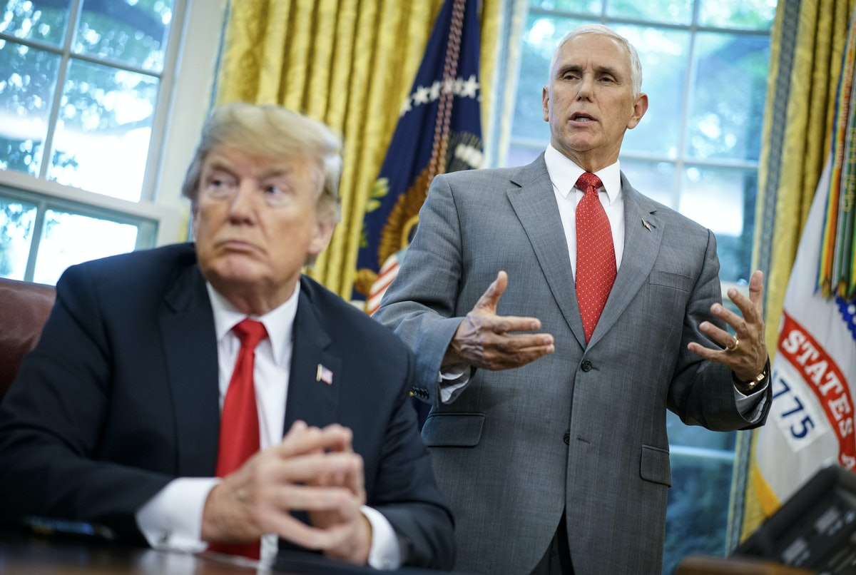 Vice President Mike Pence would need to invoke the 25th Amendment to remove President Trump from office.
