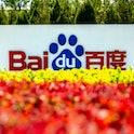 Baidu sign outside its Beijing headquarters.