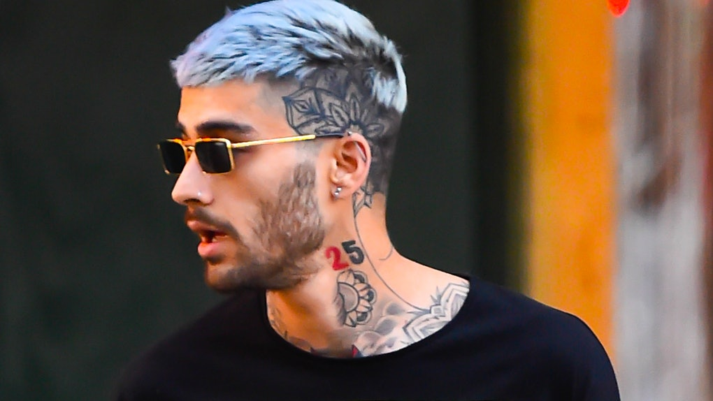 Zayn Malik hits the streets in a graphic tee.