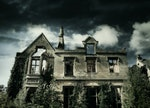These scary Halloween Zoom backgrounds include creepy haunted houses.