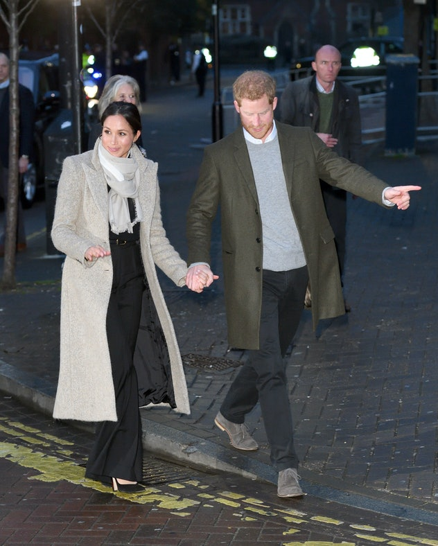 Prince Harry shows his new wife around town.