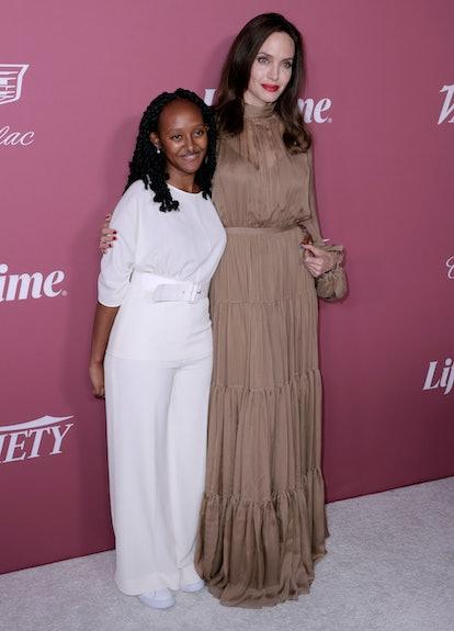 Zahara Jolie-Pitt and Angelina Jolie attend Variety's Power Of Women at Wallis Annenberg Center for ...