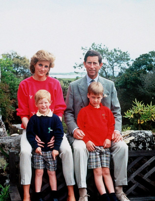 Prince Harry on holiday with his parents and brother.