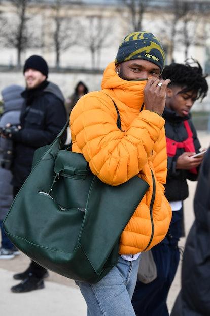 PARIS, FRANCE - JANUARY 17:  Frank Ocean attends the Louis Vuitton Menswear Fall/Winter 2019-2020 sh...