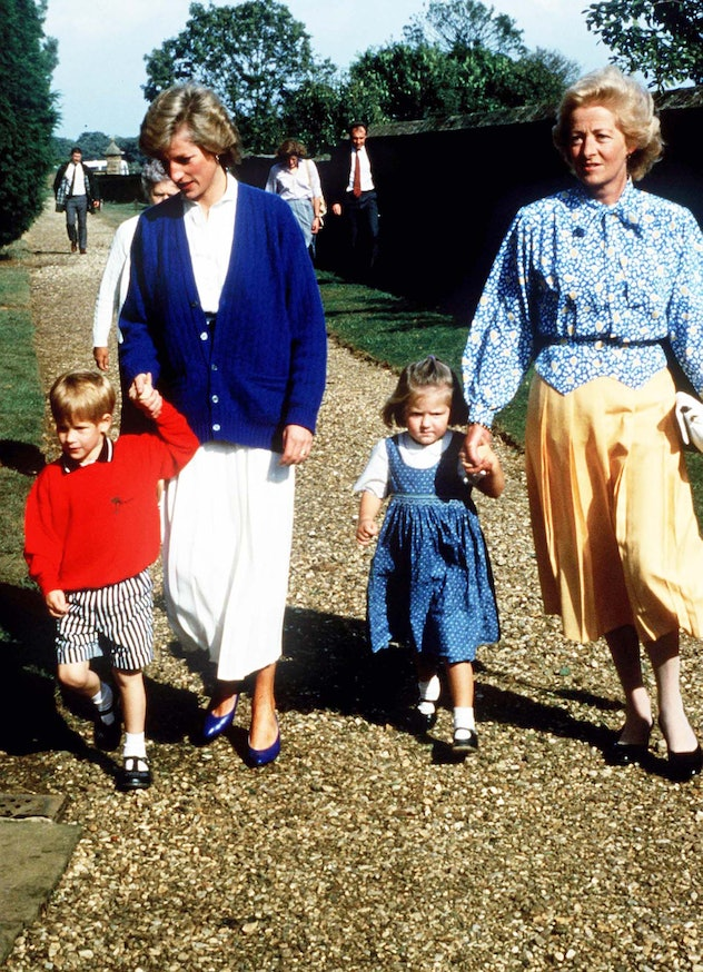 Prince Harry wears a sweater with his mom.