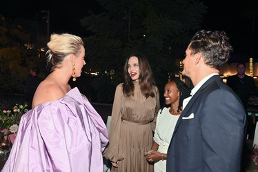 BEVERLY HILLS, CALIFORNIA - SEPTEMBER 30: (L-R) Katy Perry, Angelina Jolie, Zahara Jolie-Pitt, and O...