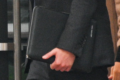 Prince Harry carried a briefcase in honor of Archie.