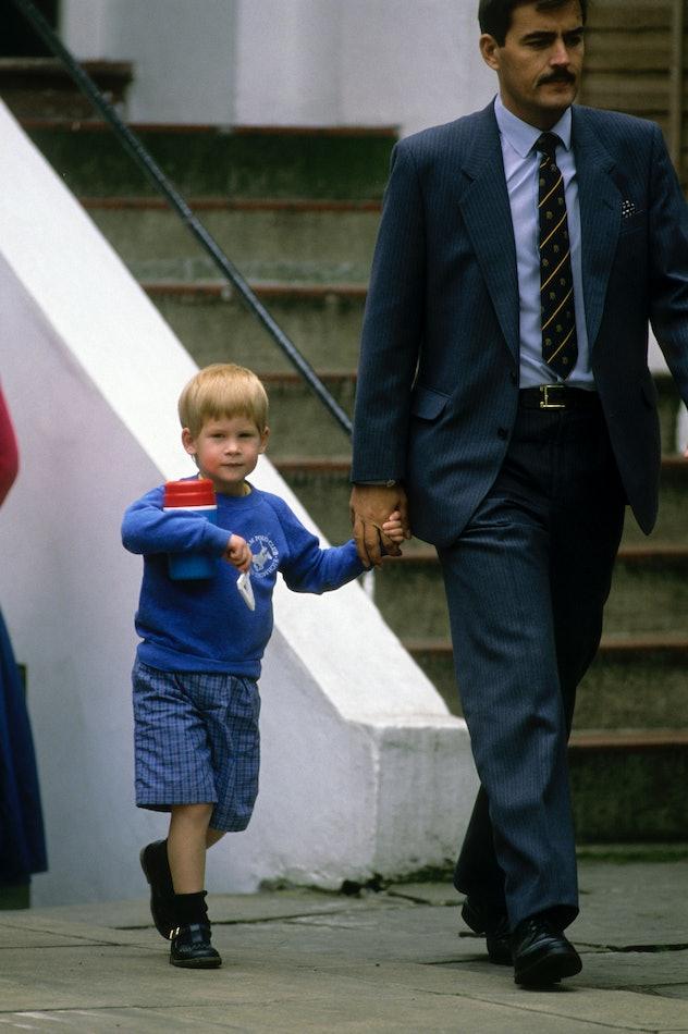 Prince Harry wore a sweater to nursery school.