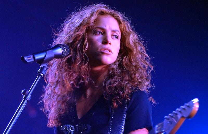 Shakira performing in 2006.
