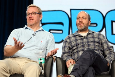 PASADENA, CA - JANUARY 14:  Matt Thomspon, Executive Producer and actor H. Jon Benjamin of the telev...