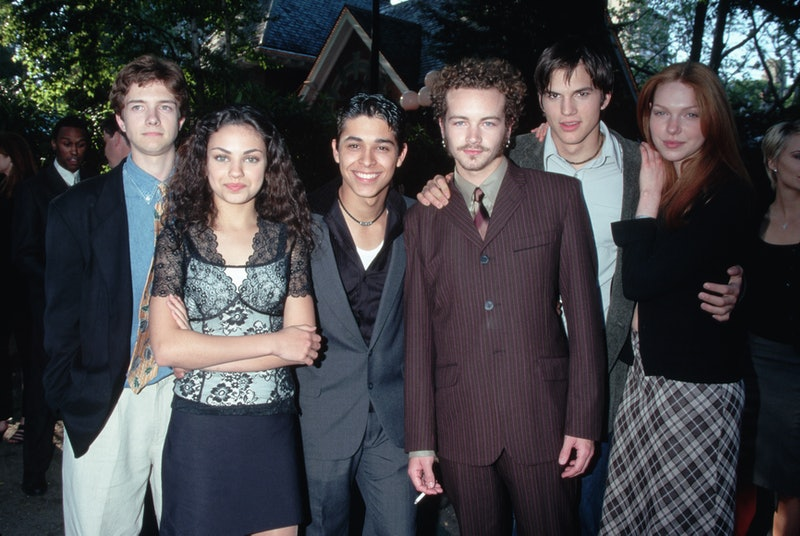 The teenage cast of Feelin' All Right at the unveiling of the Fox Broadcasting Company's 1998-1999 p...