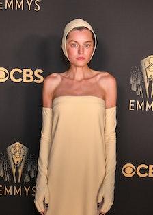 Emma Corrin attends the Netflix celebration of the 73rd Emmy Awards