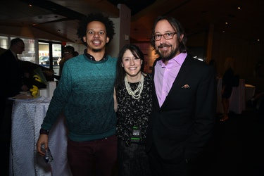 NEW YORK, NY - MAY 13:  (L-R) Eric Andre, Christina Miller, President at GM, Cartoon Network, Adult ...