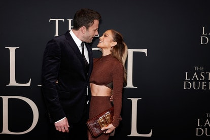"""Ben Affleck and Jennifer Lopez attend """"The Last Duel"""" New York Premiere and their body language is i..."""
