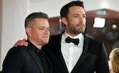 American actors Matt Damon, Ben Affleck at the 78 Venice International Film Festival 2021. The last ...