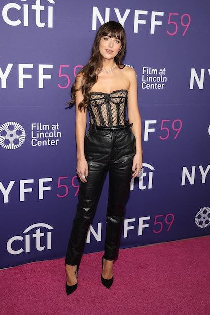 """NEW YORK, NEW YORK - SEPTEMBER 29: Dakota Johnson attends the premiere of """"The lost girl"""" during..."""