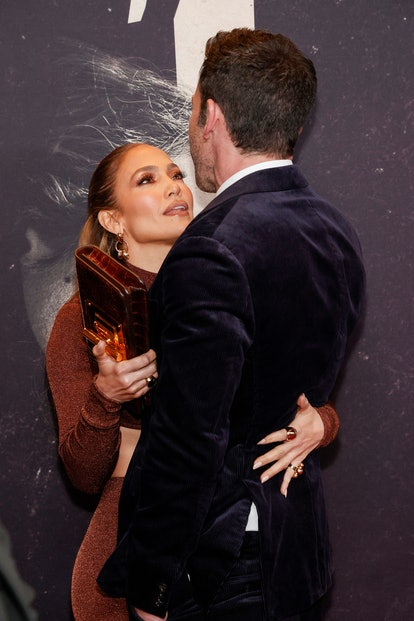 """Jennifer Lopez and Ben Affleck attend """"The Last Duel"""" New York Premiere and Lopez's body language is..."""