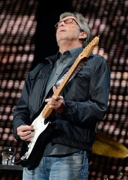 NEW YORK, NY - APRIL 13:  Eric Clapton performs on stage during the 2013  Crossroads Guitar Festival...