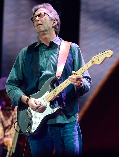 NEW YORK, NY - APRIL 12:  Eric Clapton performs on stage during the 2013  Crossroads Guitar Festival...